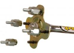 Detalle de instalacion de los separadores de rueda BRONCO.