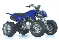 Detalle de las llantas SS112 Sport Chrome ITP montadoas en un Yamaha.