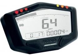 BA022W00 Cuadro Instrumentos KOSO DB02 (RACE), speed, odo, trip, rpm hasta 20.000, temp, iluminado blanco 188.7x66.1mm, 22.7-26.8mm profondo.
