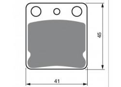 Pastillas de freno delantero Sinterizadas Kawasaki KVF300 Prairie 99-02, KVF360 Prairie 03-12, KVF400 Prairie 97-02