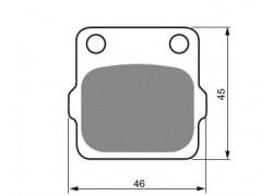 Pastillas de freno trasero Sinterizadas Suzuki LT230 86-88, LT250 85-90