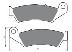 Pastillas de freno delantero Sinterizadas Honda TRX450 R 04-12, TRX700 XX 08-09