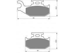 Pastillas de freno trasero Sinterizadas LT-A500 Vinson 2002