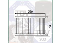 Filtro de aceite Honda TRX400 Rancher 04-07, TRX500 Rubicon 00-14, TRX650 Rincon 03-05, TRX680 Rincon 06-14
