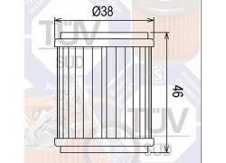 Filtro de aceite Yamaha YZ450 04-13