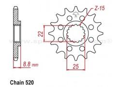 Piñón KTM 525 XC ATV 08-13