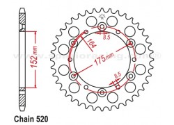 Corona Derbi DXR200 04-08, DXR250 04-08