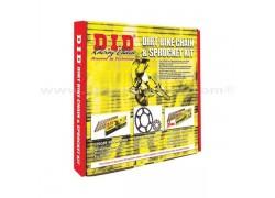 Kit de transmisión con cadena reforzada con retenes Derbi DXR200 04-08, DXR250 04-08