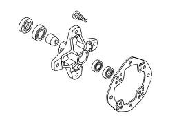 Kit rodamientos rueda delantera Yamaha YFM350 Wolverine 95-09, YFM400 Big Bear 00-12, YFM400 Grizzly 07-08, YFM400 Kodiak 93-06