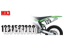 Números para dorsales MX3 MOTION.