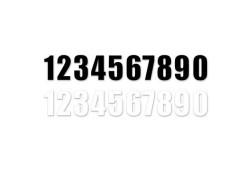 Números Blancos para dorsales ED2 MOTION