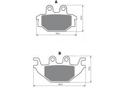 Pastillas de freno delantero/trasero Sinterizadas Kymco MXU300 06-17, MXU500 06-08