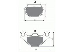 Pastillas de freno trasero Suzuki LT-A500 (FK3-FK5) Vinson (4WD) 03-07, LT-F500 (FK3-FK5) Vinson Quadrunner 03-07
