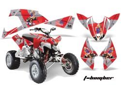 Kit Adhesivos T-Bomber AMR Polaris 450 Outlaw 07-11, 500 Outlaw 07-11, 525 Outlaw 08-11