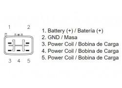 Regulador de voltaje Suzuki LT-A/LT-F400 Eiger 02-10, LT-F400 King Quad 08-09, LT-R450 06-11