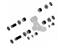 kit rodamientos bieleta trasera