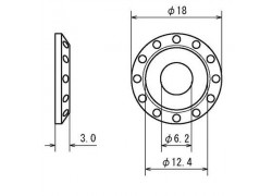 "D58-57-231 Medidas separador/arandela aluminio ""Tipo-02"" DRC"