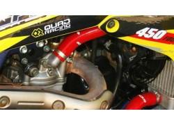 Kit tubos radiador silicona color Rojo NEX PERFORMANCE motados en un SUZUKI LT-R50.