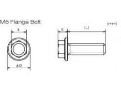D58-51-220 Medidas tornillo aluminio M6 autoblocante DRC.