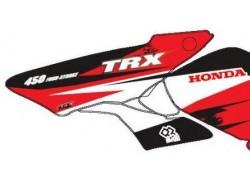 Kit adhesivos Rojo y Negro Honda TRX450 R 04-12