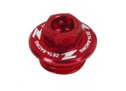 Tapón llenado aceite motor Rojo ZETA RACING Honda TRX450 R/RX 04-08, Yamaha YFZ450 04-09